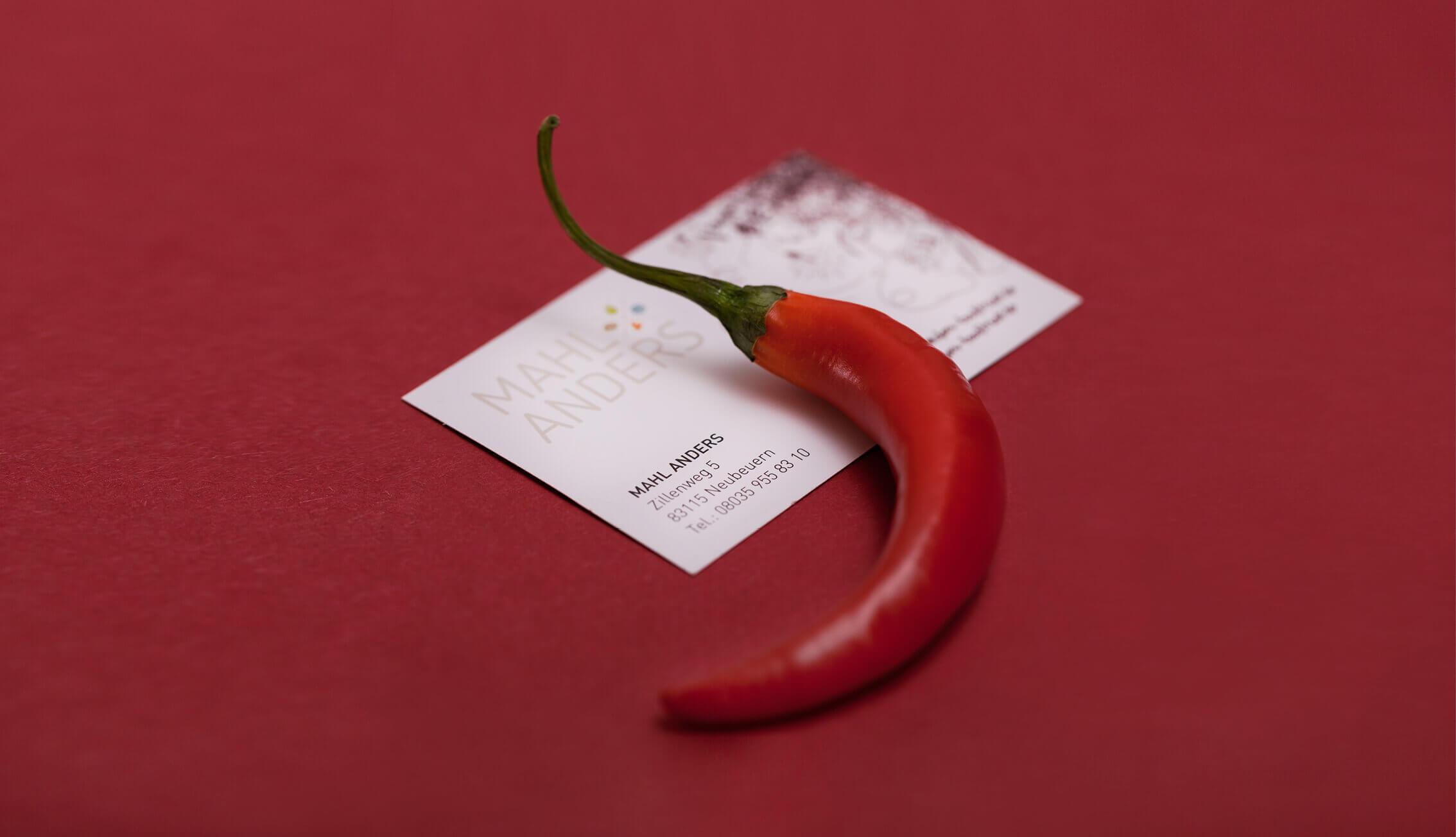 Mahl Anders - Chilli Visitenkarte
