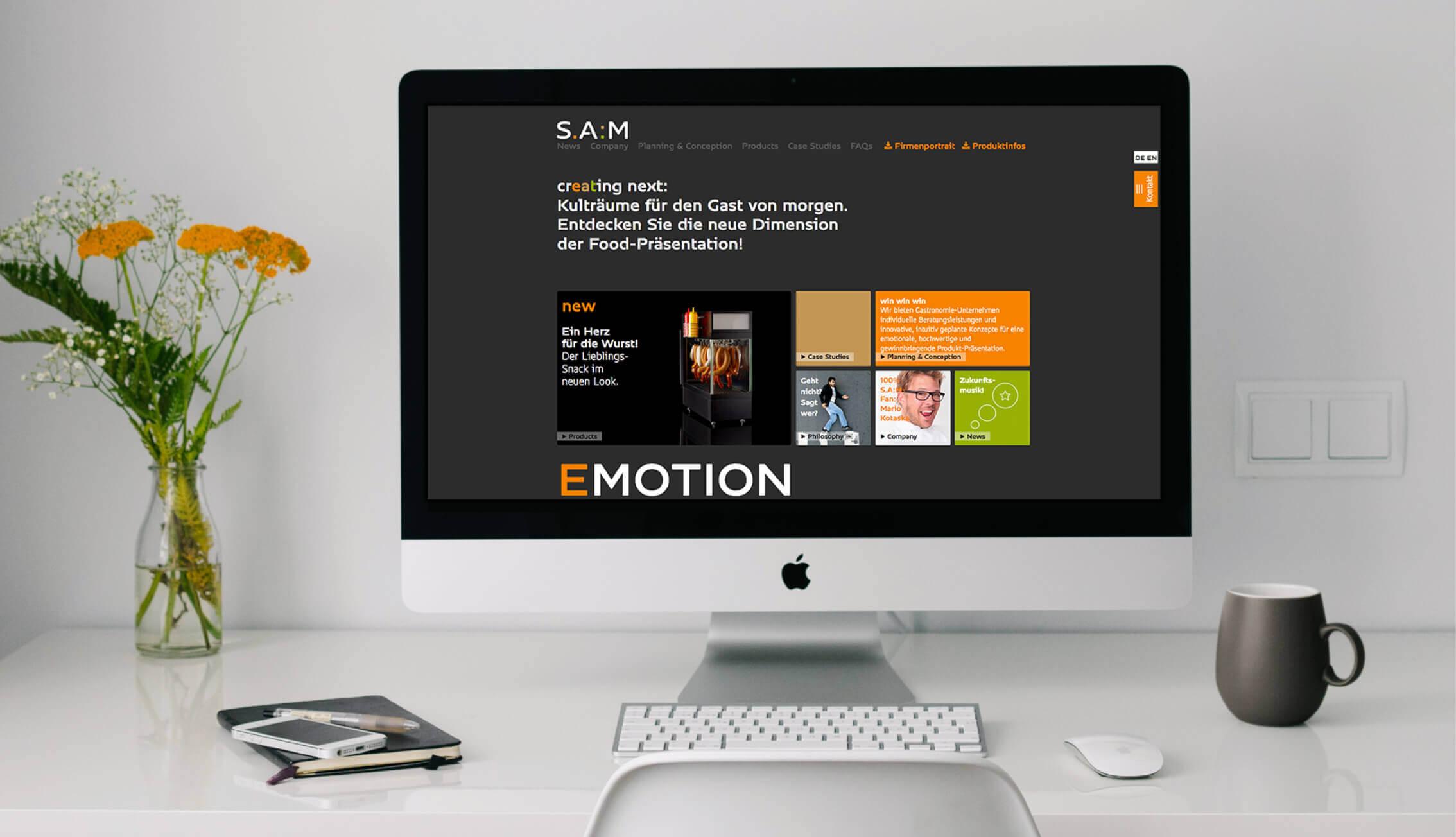 S.A.M. - Webauftritt