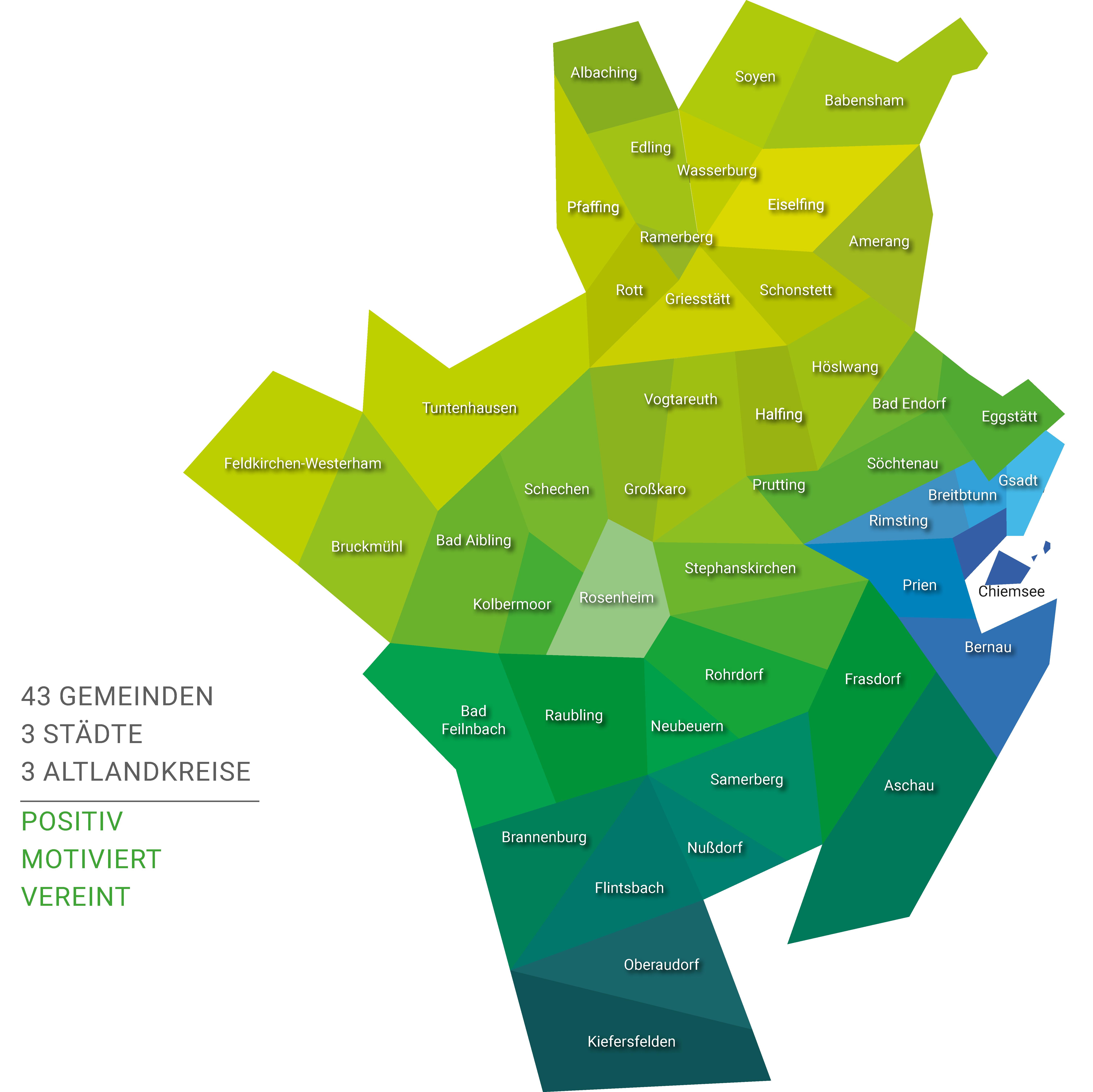 Landkreis Rosenheim - Übersichtskarte