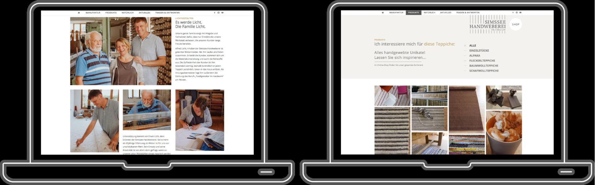 Simssee Handweberei - Webseiten